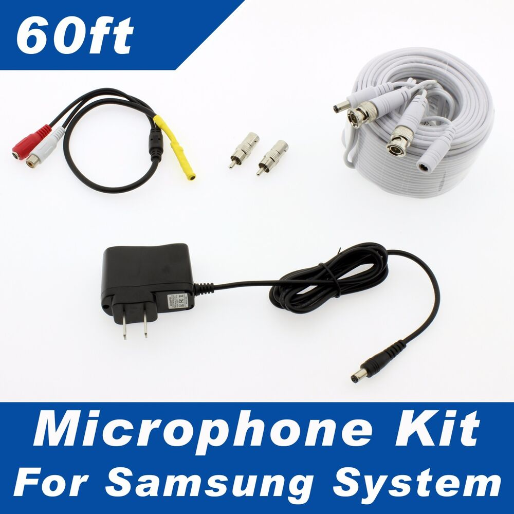 samsung surveillance security system microphone kit sds p5122 sds p5082 ebay. Black Bedroom Furniture Sets. Home Design Ideas