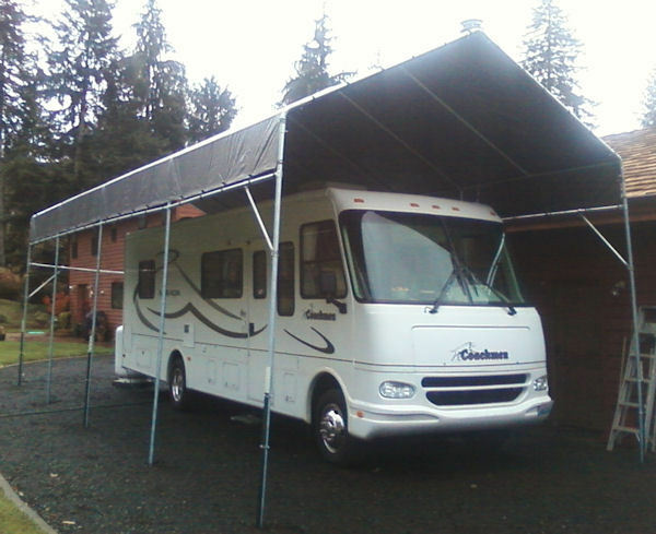 Make your own 21 39 to 30 39 portable carport shelter kit for Motorhome garage kits