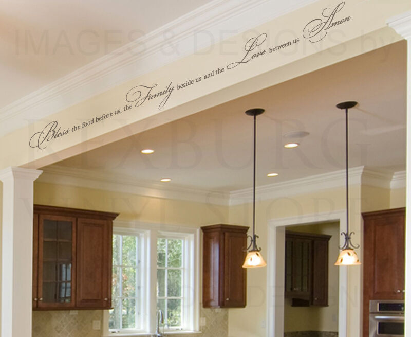 Bless the food family love religious dining room wall for Ebay dining room wall art