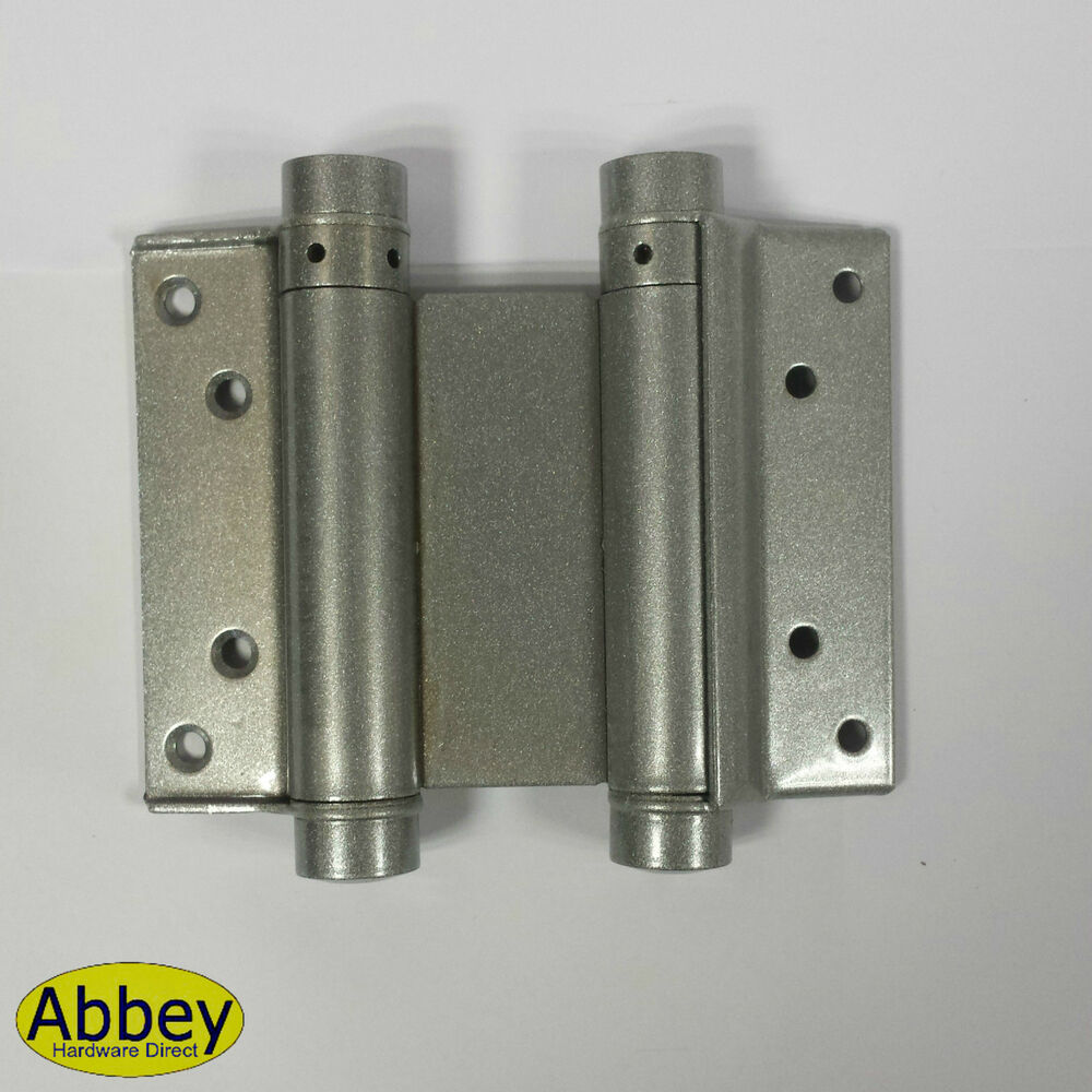 Saloon Door Hinges : Pair double action spring swing door gate saloon kitchen