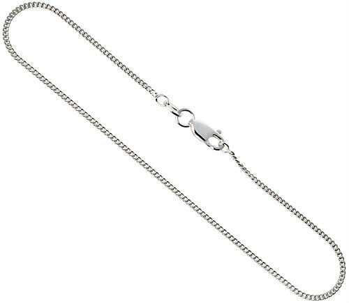 Thin Gold Chain Bracelet: STERLING SILVER AUTHENTIC 1MM MEN THIN CUBAN LINK CHAIN