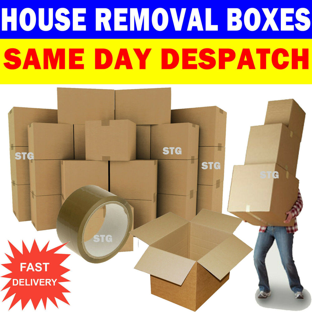 Extra large cardboard storage boxes - New 20 X Large Cardboard House Moving Boxes Removal Packing Box Ebay
