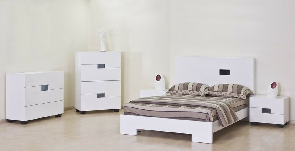 Chloe Fully Assembled High Gloss Bedroom Furniture Range Bed Drawers Sides Ebay