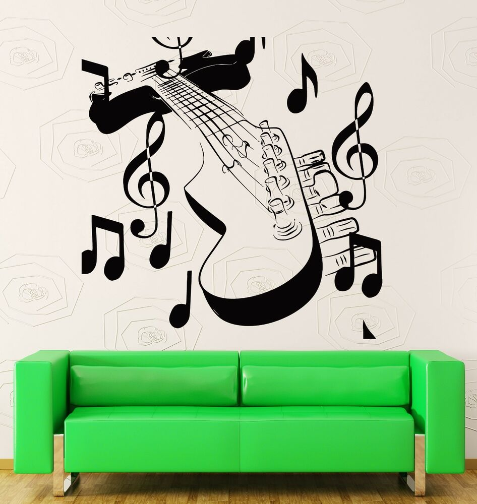 Wall stickers vinyl decal guitar with notes music rock - Over the garden wall soundtrack vinyl ...