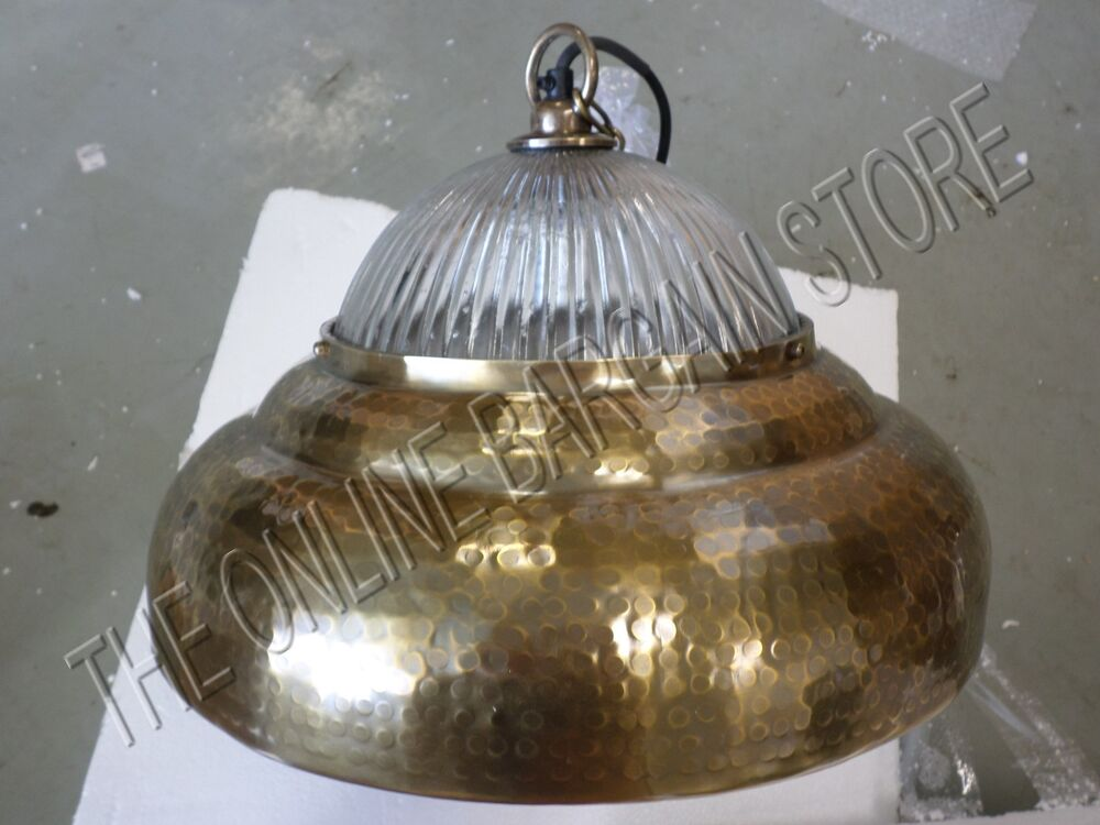 Pottery Barn Pb Larkin Pendant Aged Brass Light Fixture