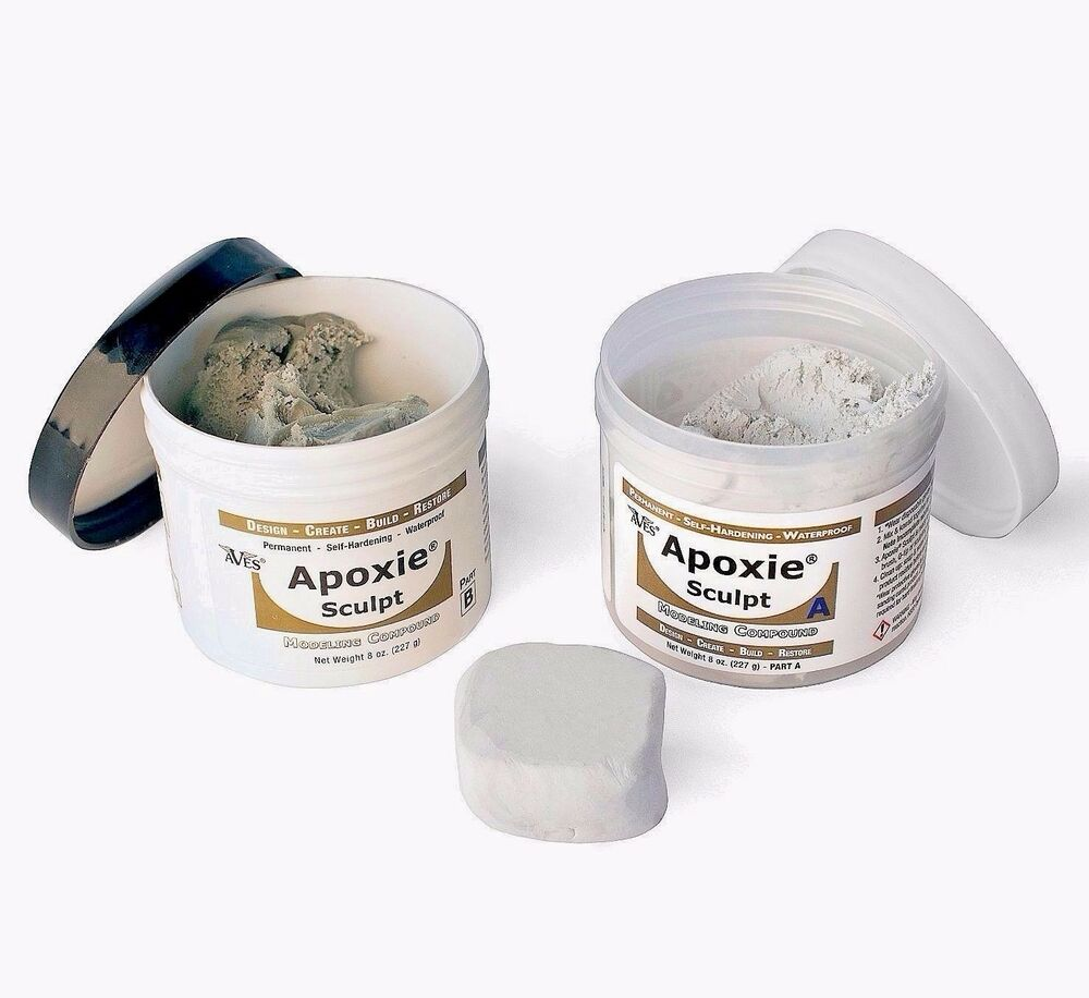 Epoxy Clay Sculpting : White epoxy lb two part self hardening modeling clay