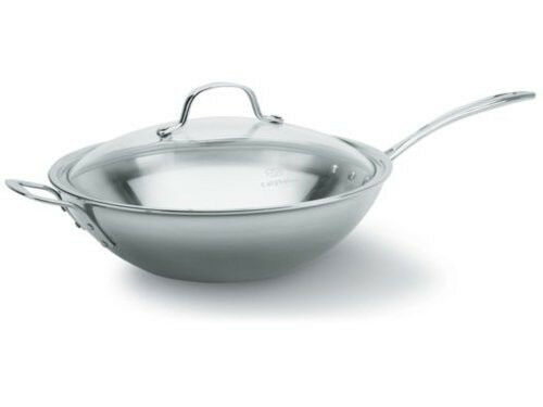 Calphalon 12 In Tri Ply Stainless Steel Stir Fry Pan New