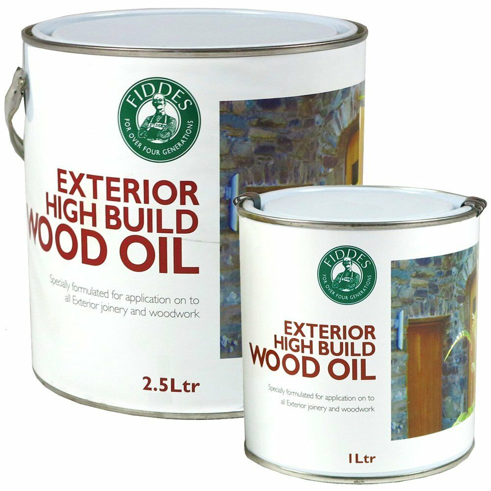 Fiddes exterior high build wood oil uv protection for woodwork joinery ebay - High build exterior paint set ...