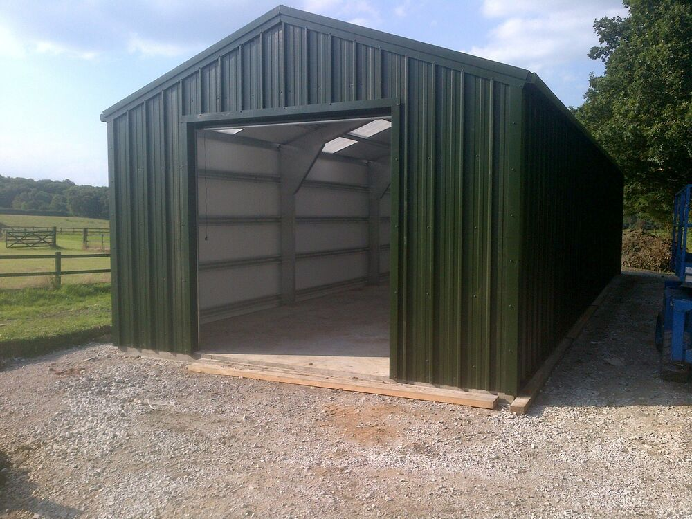 Steel Framed Sheds : Tractor shed steel building framed buildings uk