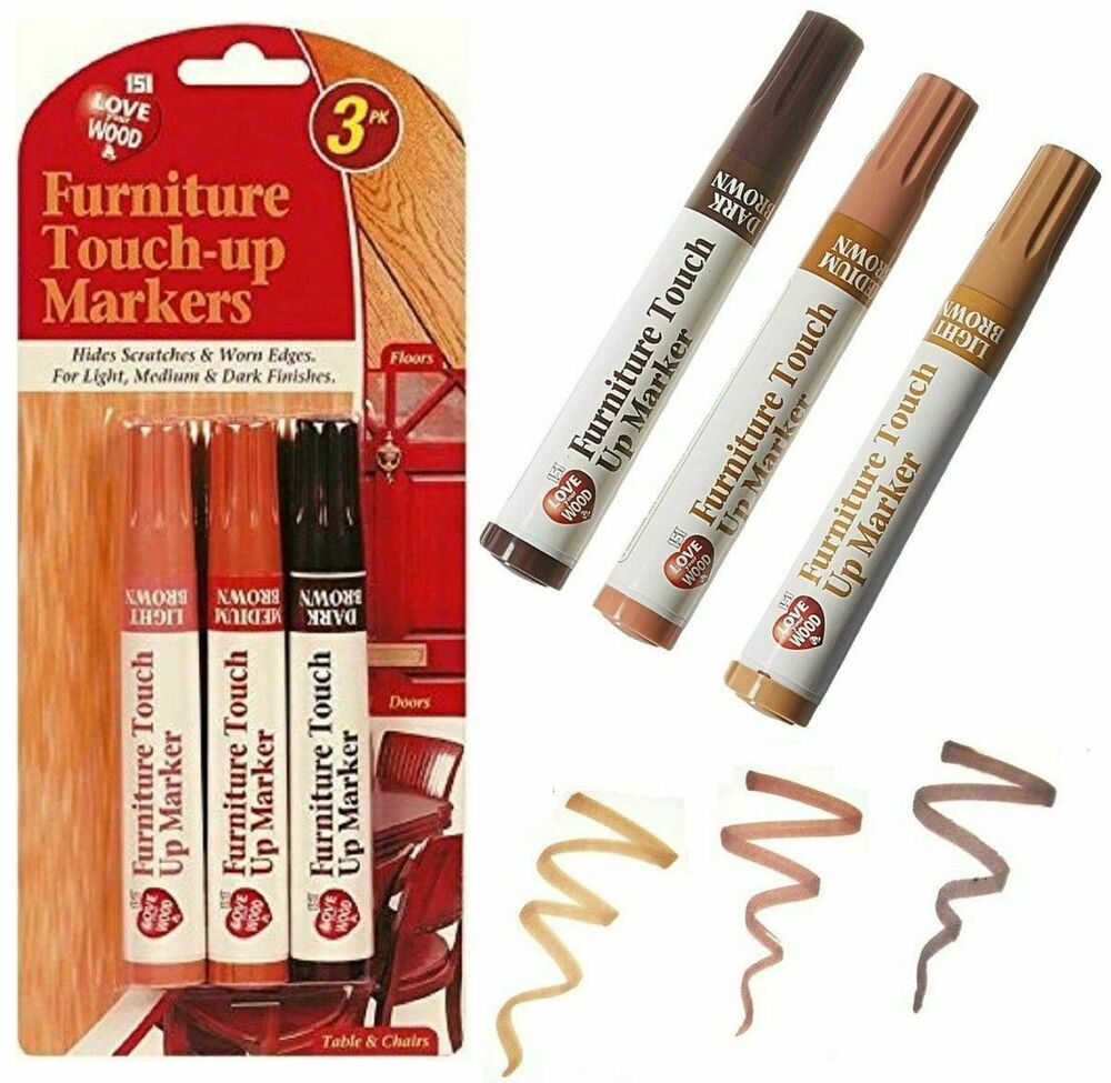 3 Wood Floor Touch Up Pens Hides Nicks Marks Scratches
