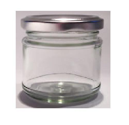 100 X 30ml Small 1oz 28g Mini Glass Jars Silver Lids Jam