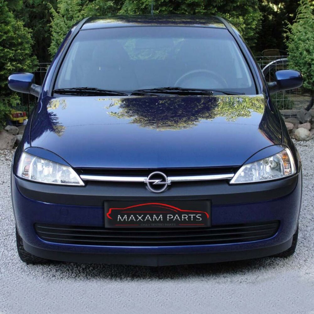 vauxhall opel corsa c 2000 2006 headlight brows lids eyebrows eyelids abs ebay. Black Bedroom Furniture Sets. Home Design Ideas