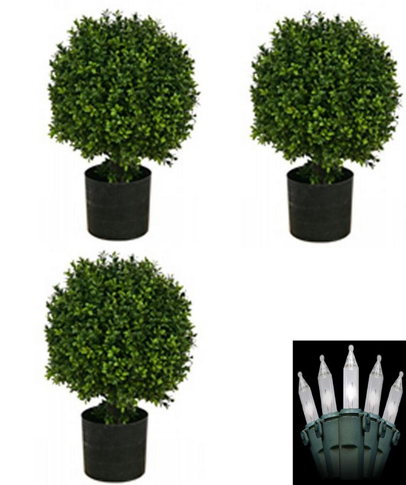 3 ARTIFICIAL 20 OUTDOOR UV BOXWOOD TOPIARY TREE BUSH BALL