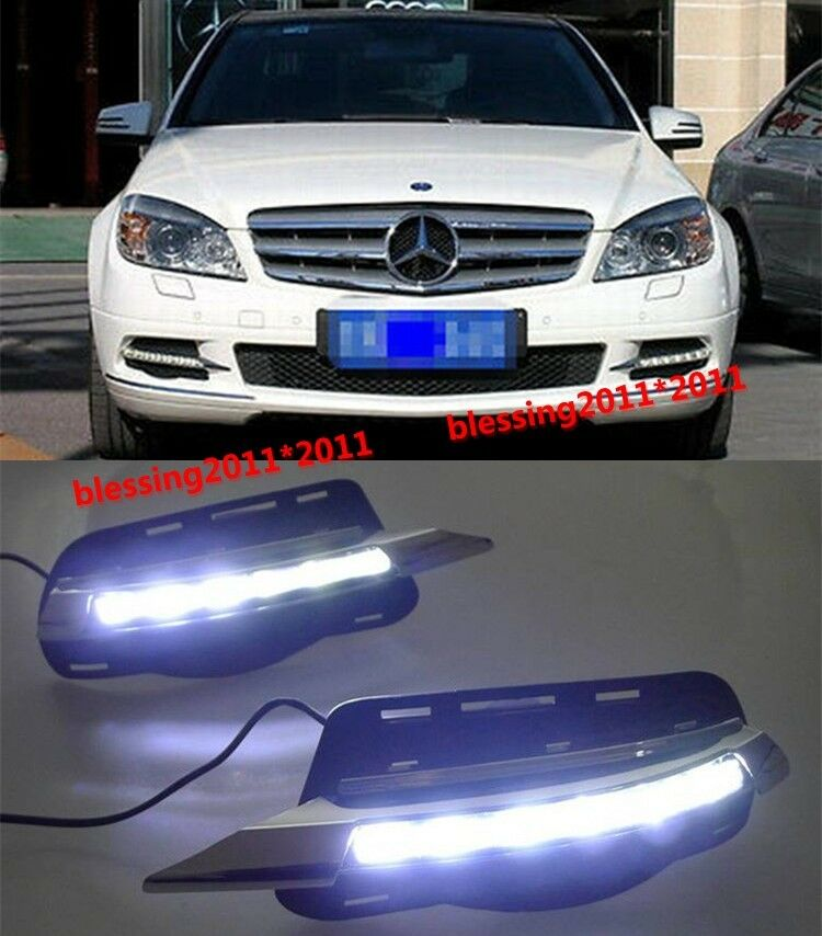 Led daytime running light drl for mercedes benz w204 c for 2008 mercedes benz c300 parts