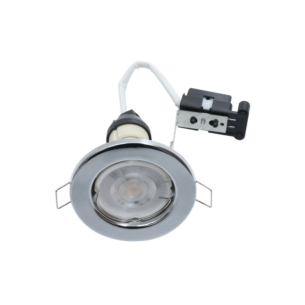 6 x gu10 mains 240 volt halogen led recessed downlight. Black Bedroom Furniture Sets. Home Design Ideas