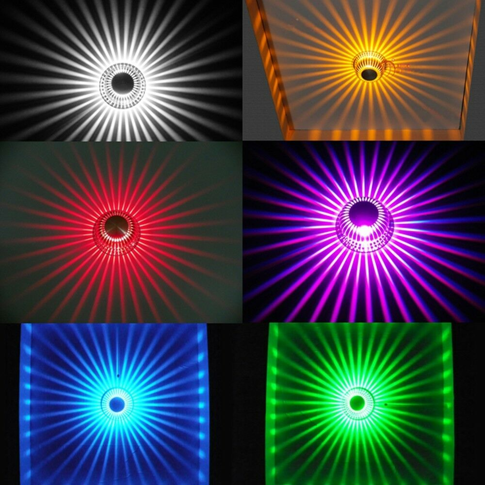 Remote Control Room Ceiling Fixture Rgb Color Changing 3w