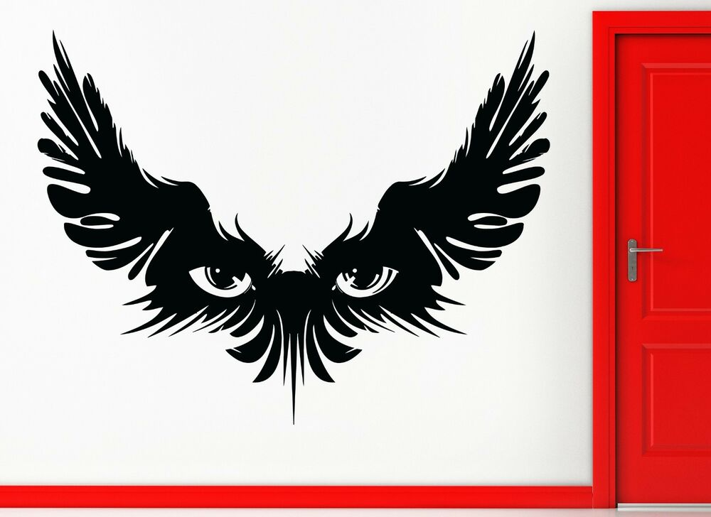 Wall Stickers Vinyl Decal Magic Wings Eye Gothic Teen