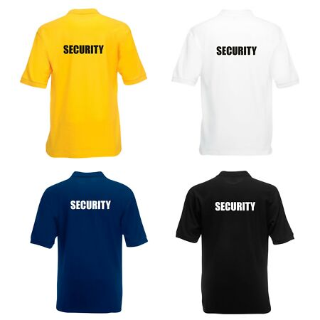 img-SECURITY POLO SHIRT PRINTED FRONT & BACK DOORMAN BOUNCER BODYGUARD