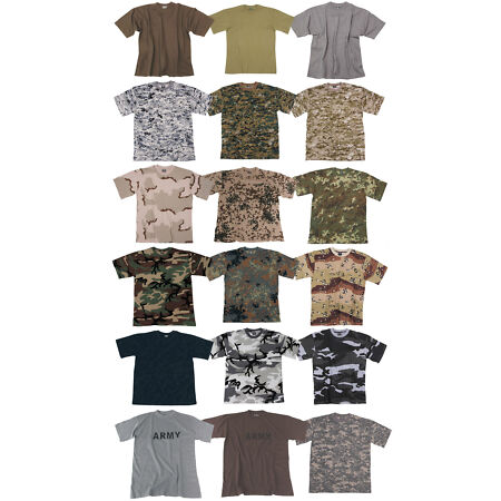 img-CLASSIC MENS ARMY CAMO T-SHIRT MILITARY COMBAT TACTICAL FIELD PATROL COTTON TEE