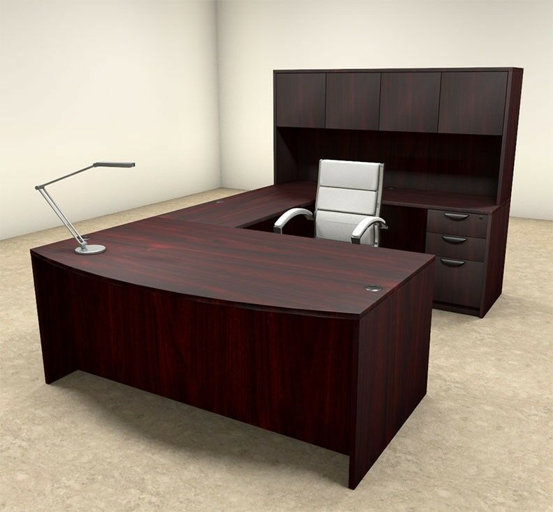 5pc u shaped modern executive office desk ot sul u15 ebay