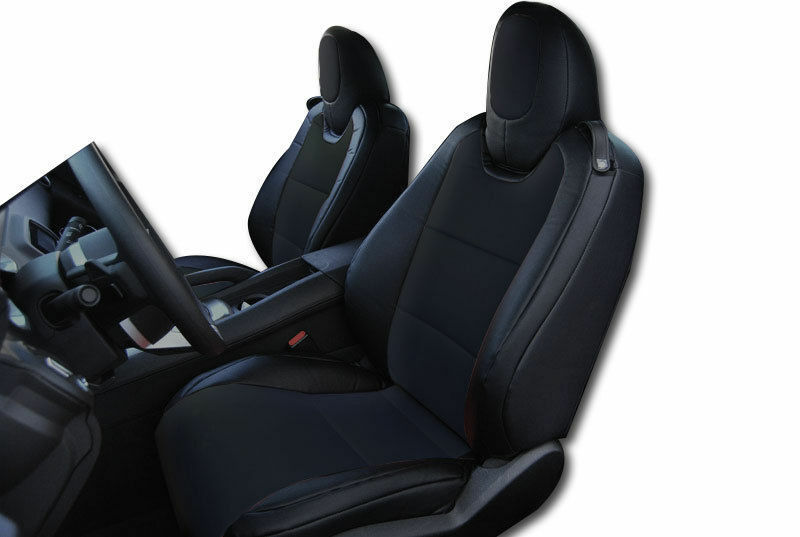 chevy camaro 2010 2015 black leather like custom fit front seat cover ebay. Black Bedroom Furniture Sets. Home Design Ideas