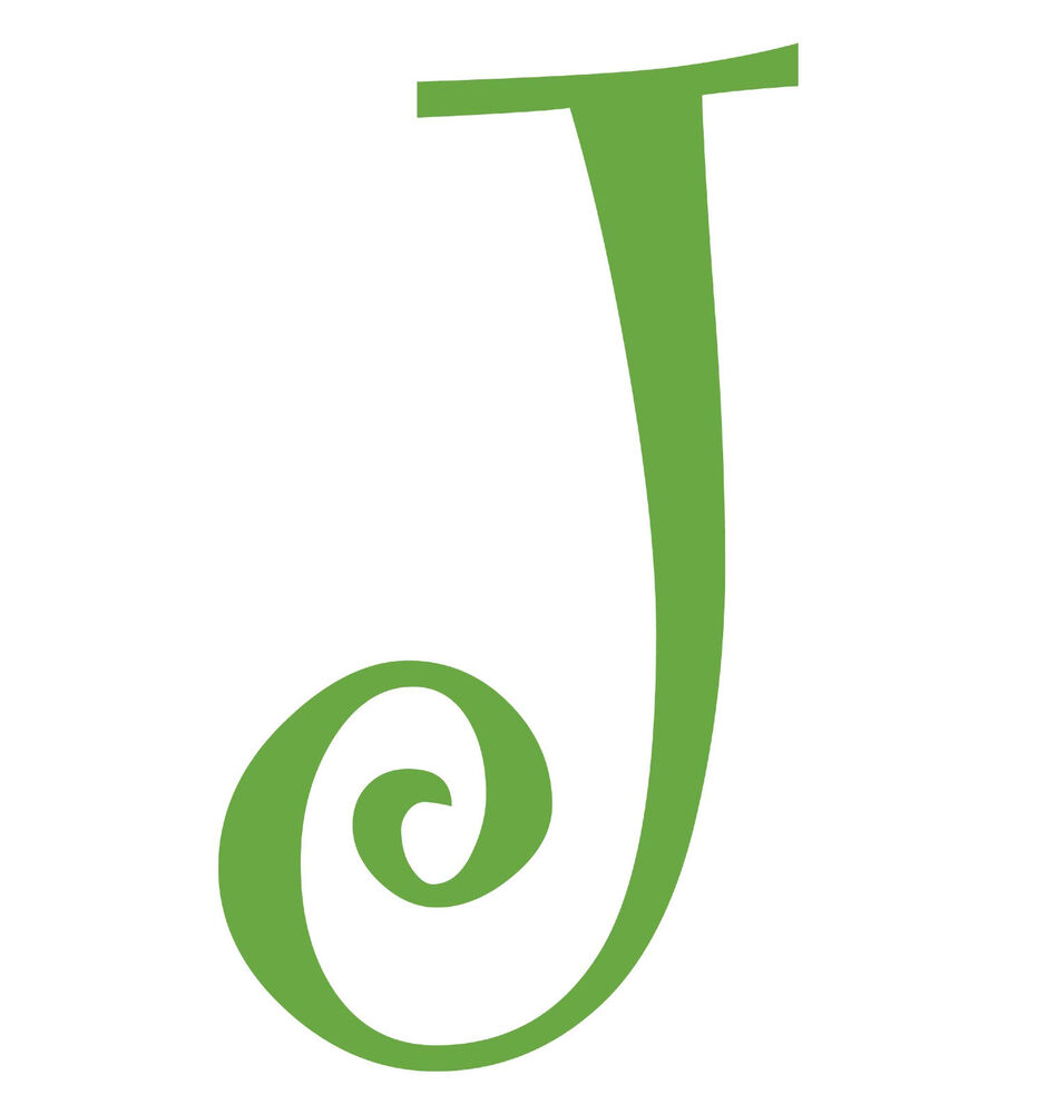 letter j initial vinyl car decal window sticker monogram With letter j stickers