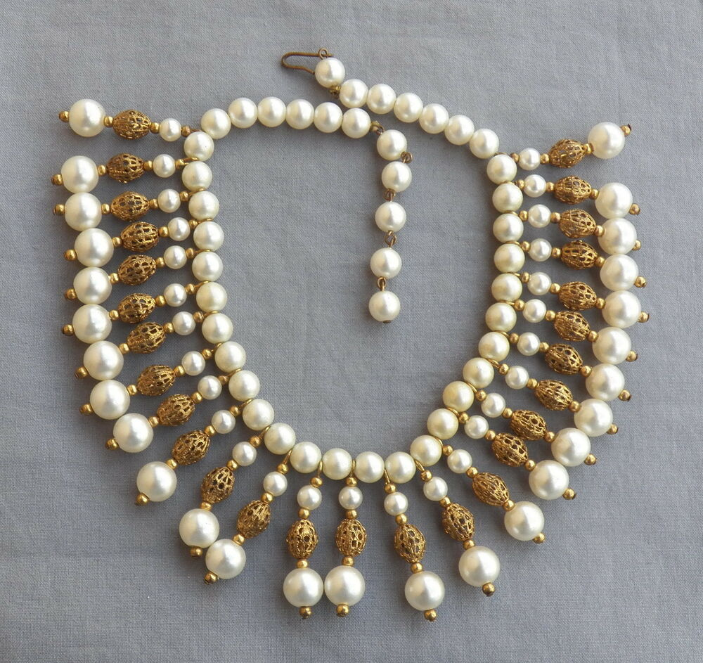 Vintage Pearl Choker Necklace