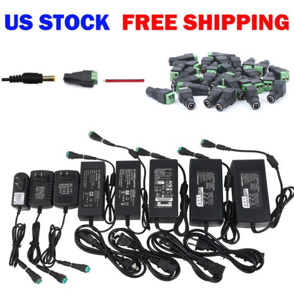 Wholesale Power Supply Adapter DC 12V 1/2/3/5/6/8/10A 3528 5050 LED Strip Light