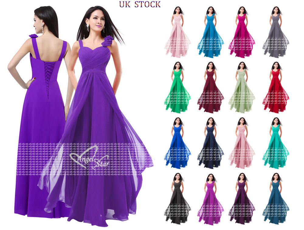 New Formal Chiffon Long Evening Ball Gown Party Prom