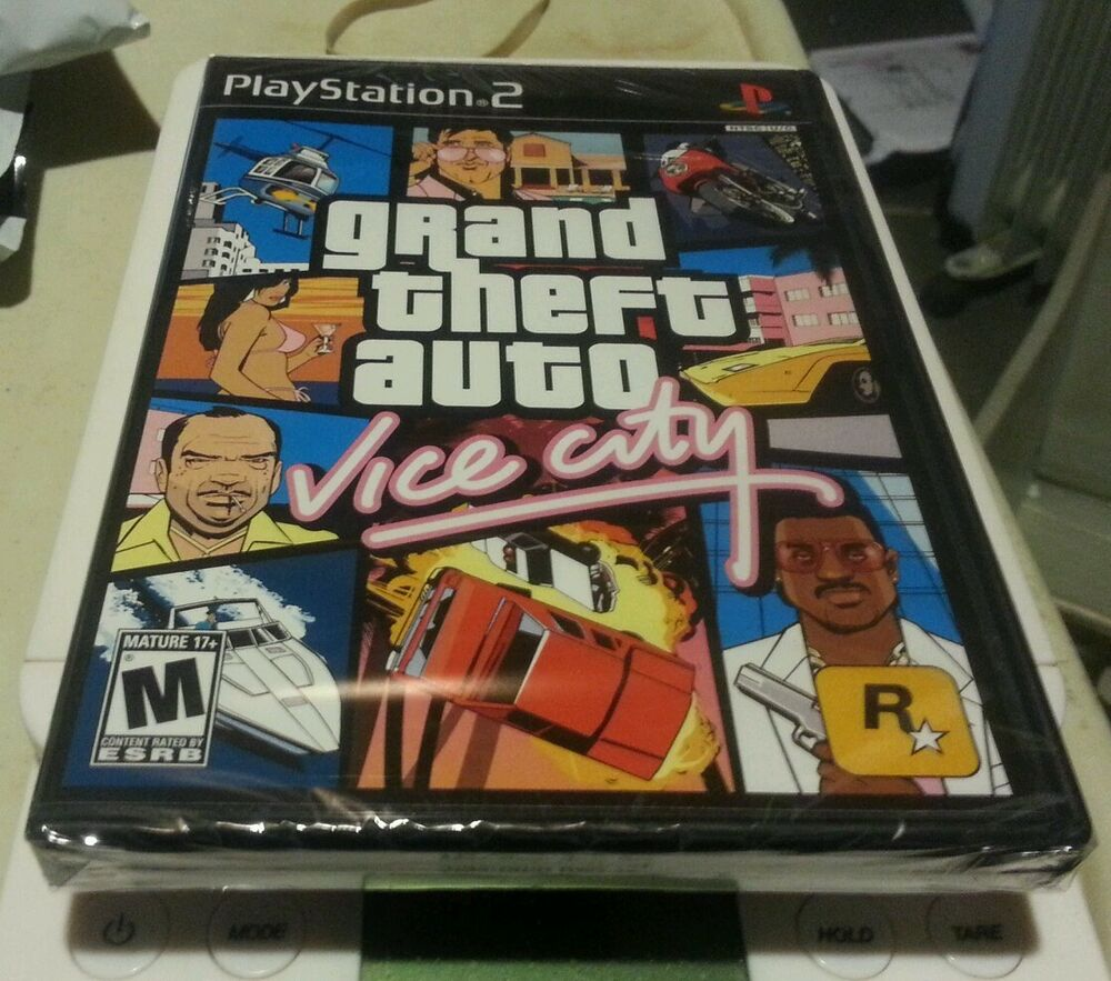 GRAND THEFT AUTO VICE CITY PS2 BLACK LABEL GAME SONY YFOLD ...