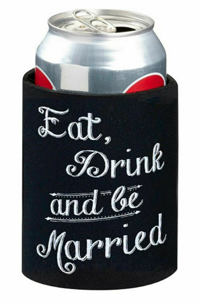 Wedding Gift Stubby Holders : NEW Wedding Stubby Holder Cozy Can Cooler Bridal Party Bomboniere ...
