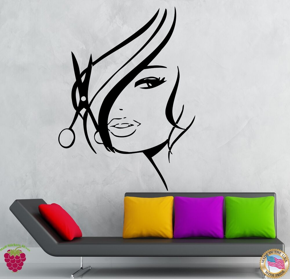 wall stickers vinyl decal hair cuttery beauty spa hair. Black Bedroom Furniture Sets. Home Design Ideas
