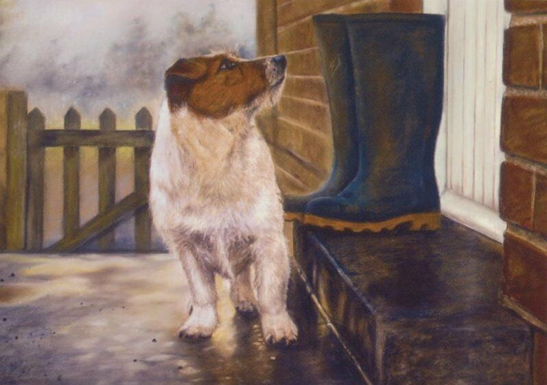 jack russell terrier dog puppy cute painting birthday dad
