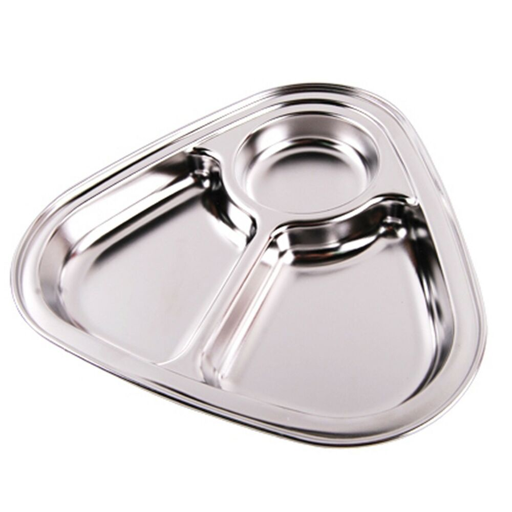 Stainless Steel Food Snack Tray Hygienic Lunch Trays