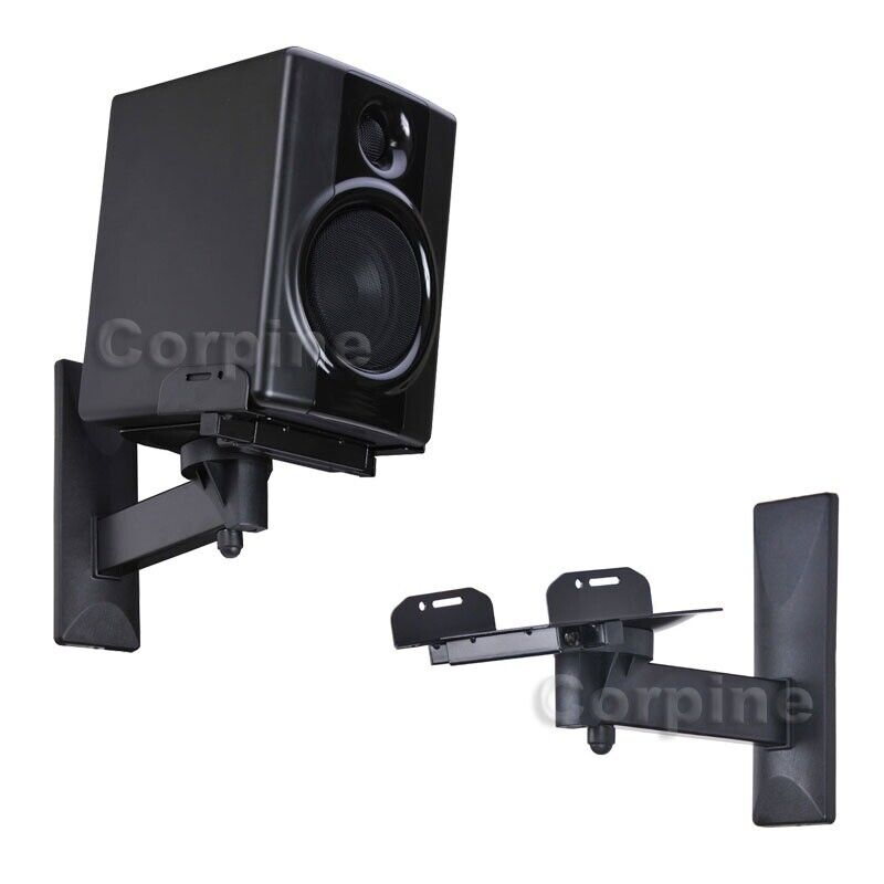 Tilt Swivel Side Clamp Speaker Mount Brackets Surround