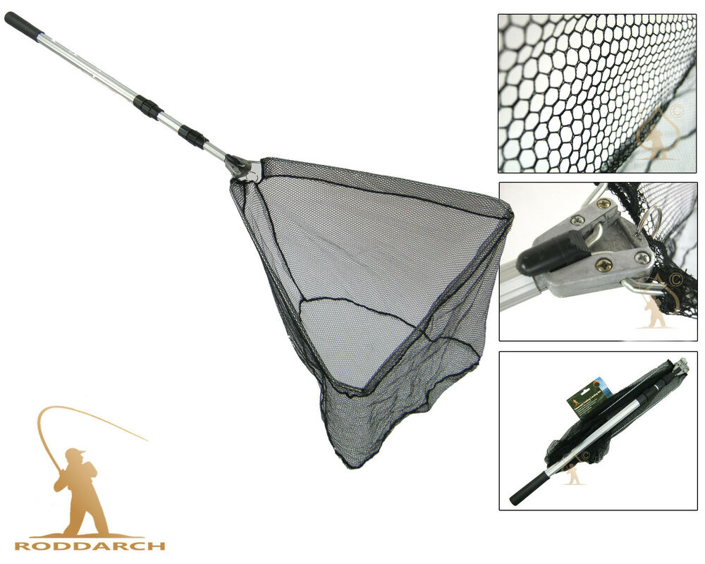 Telescopic lightweight folding fishing landing net 78 for Telescoping fishing net