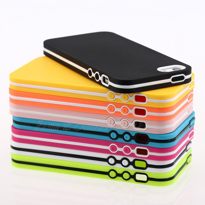 iphone 5s bumper case tpu ultra slim rubber soft silicone gel skin bumper 14753