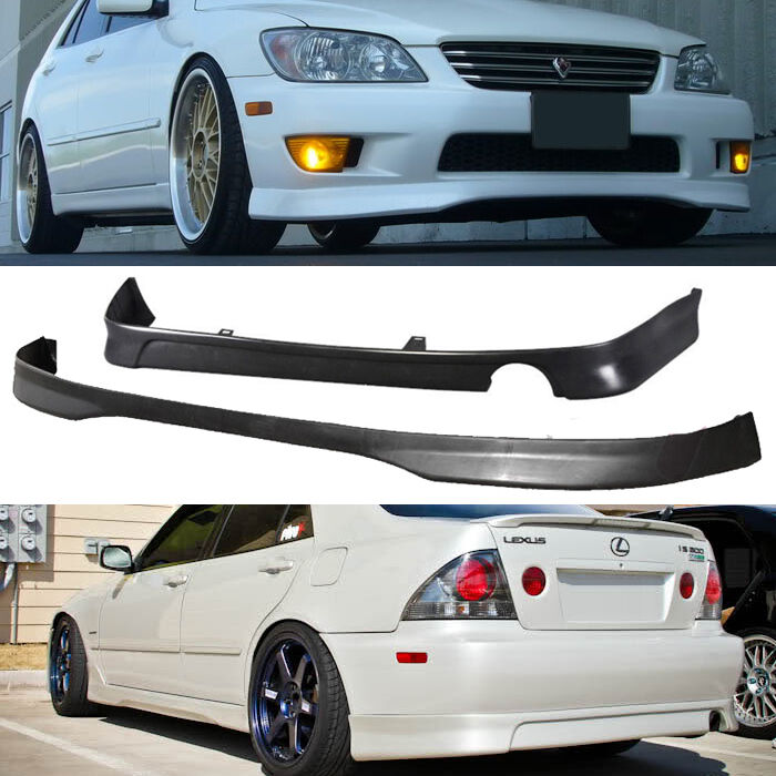 JDM 2001-2005 LEXUS IS300 PU TR FRONT J REAR BUMPER LIP