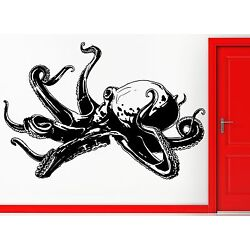 Wall Stickers Vinyl Decal Octopus Tentacles Scary Ocean Monster Decor  (z2318)
