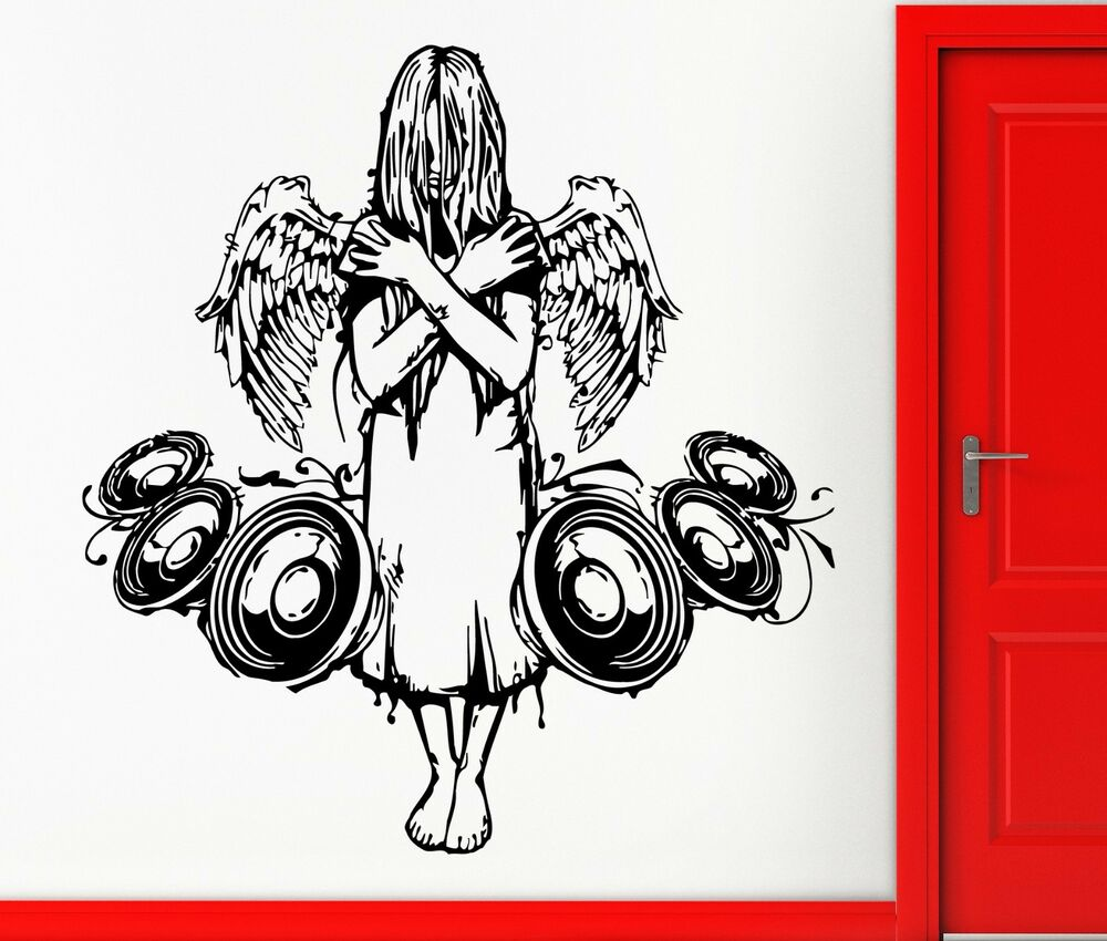 Cool Music Wall Decor : Wall stickers vinyl decal fallen angel music gothic scary