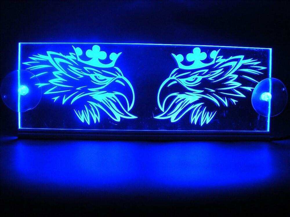 12v led interior cabin light plate for scania truck neon illuminating sign blue ebay for Interior neon lights for trucks