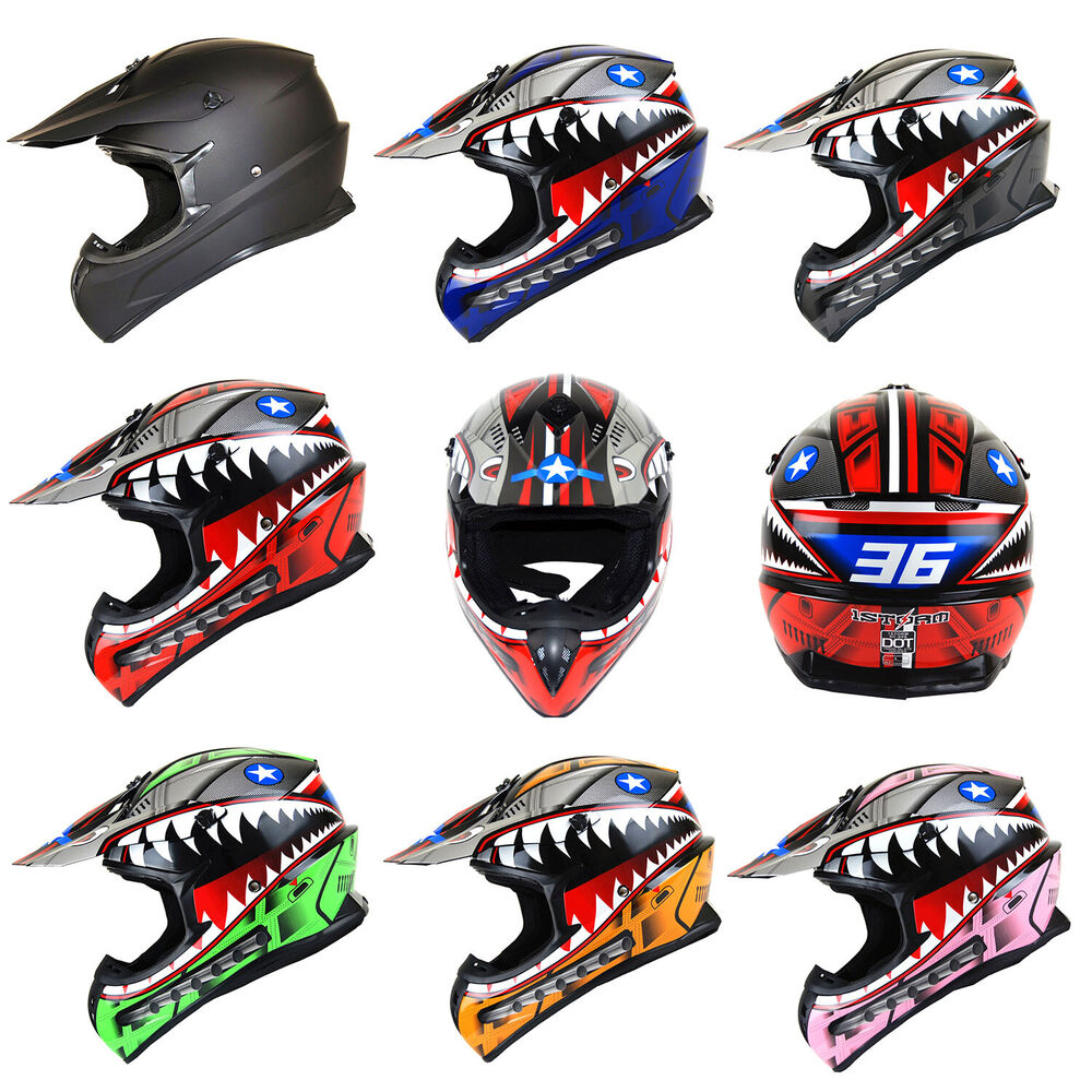 motorcross motocross helmet mx atv bike black blue green. Black Bedroom Furniture Sets. Home Design Ideas