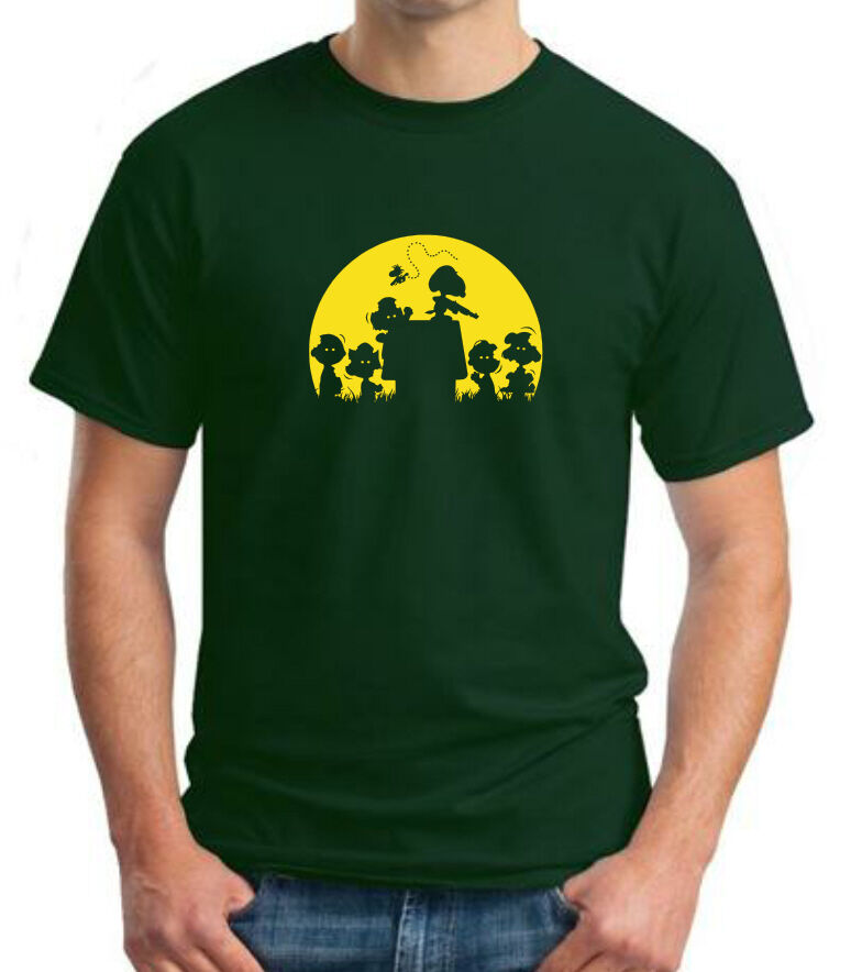 zombie snoopy peanuts charlie brown parody t shirt sizes up to 5xl. Black Bedroom Furniture Sets. Home Design Ideas