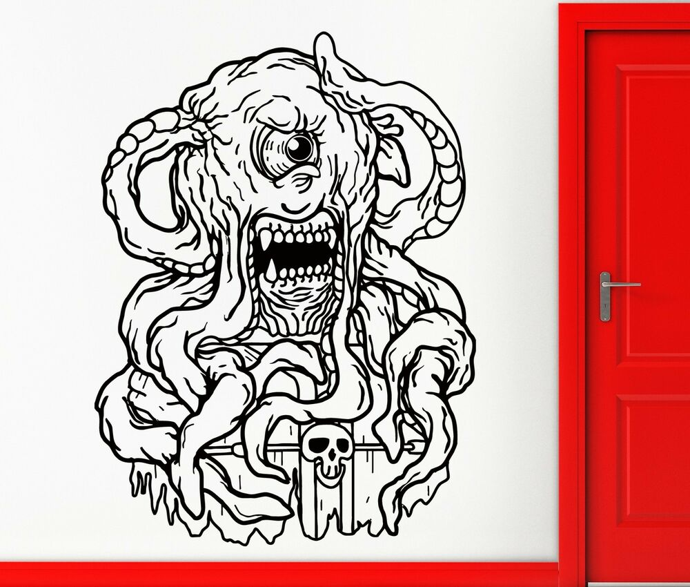Wall Stickers Vinyl Decal Scary Monster Horror Creepy Cool