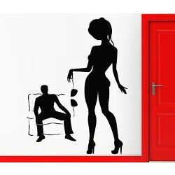 Wall Stickers Vinyl Decal Hot Sexy Naked Girl Woman Lingerie Striptease (z1001)