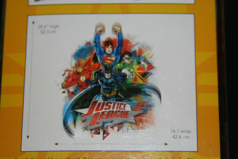 Justice league large wall decals boys room decor 20x16 new for Room decor justice