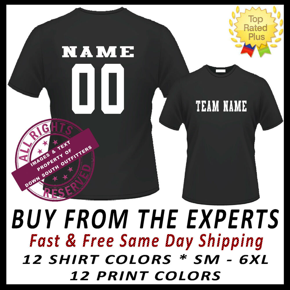Custom Jersey Team Name Number Sports T Shirt Baseball