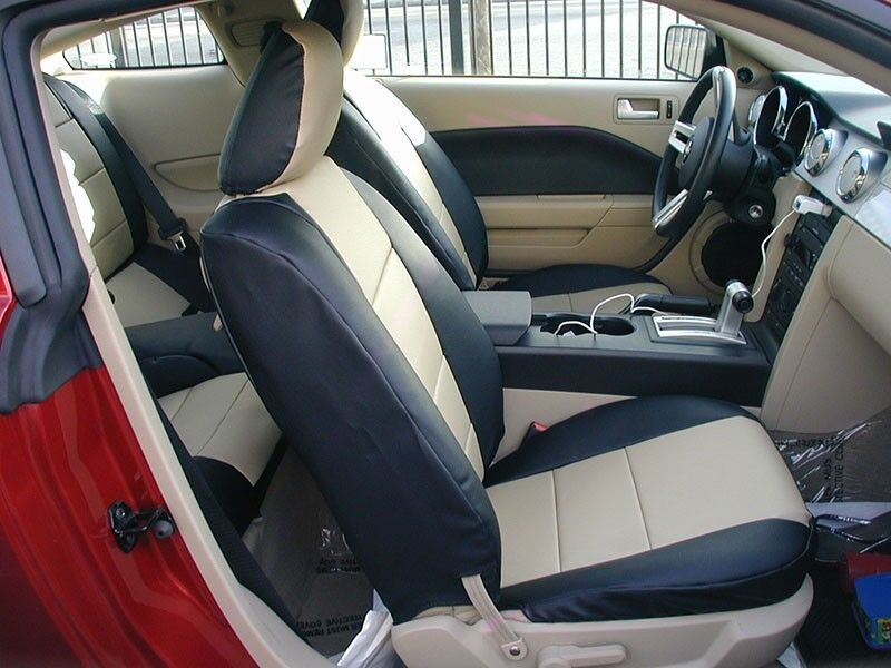 ford mustang 2005 2014 leather like custom seat cover ebay. Black Bedroom Furniture Sets. Home Design Ideas