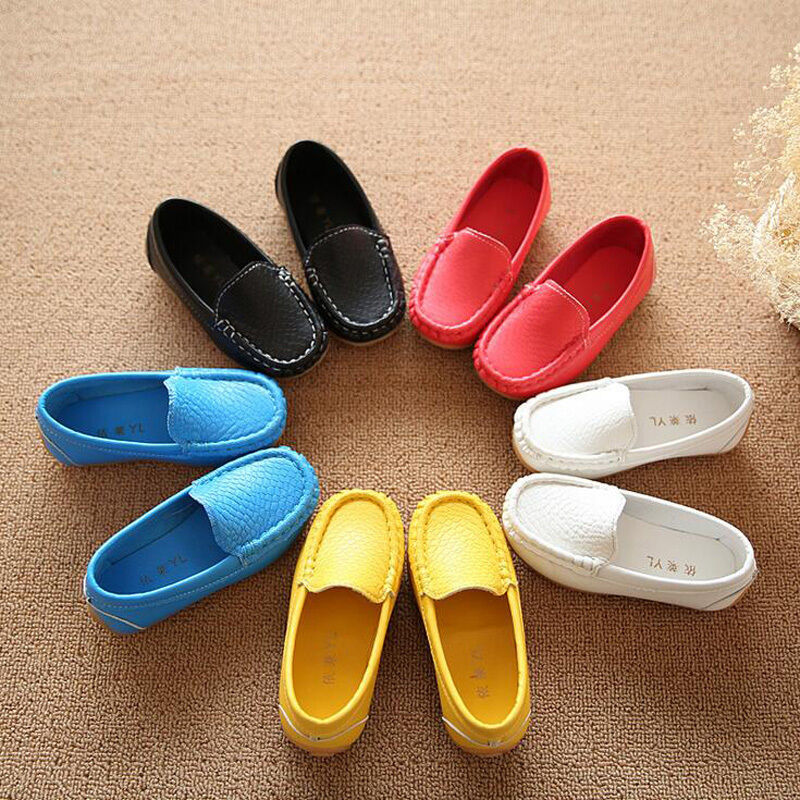 258b884a9b5 Details about Kids Baby Toddler Girl Boy Fashion Loafers Soft Leather Flat  Slip-on Crib Shoes