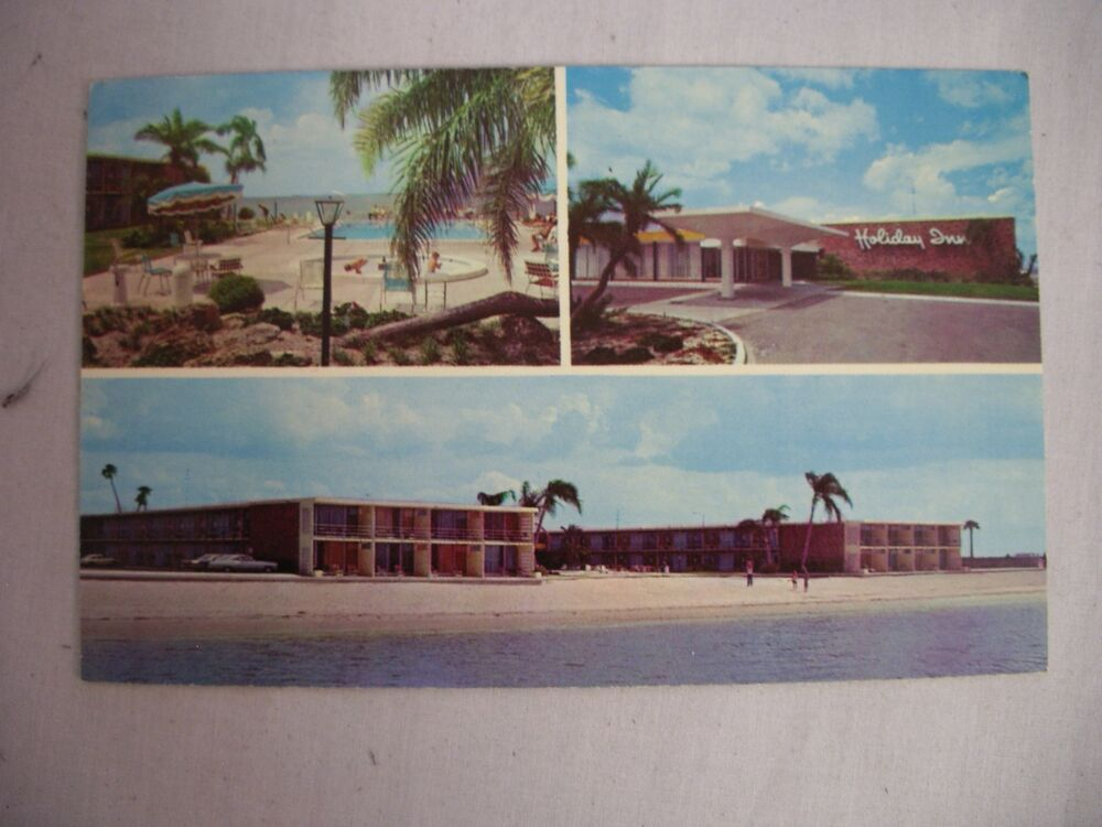 vintage photo postcard of the holiday inn  tampa